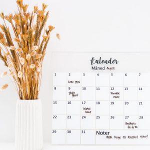 Kalender til whiteboard